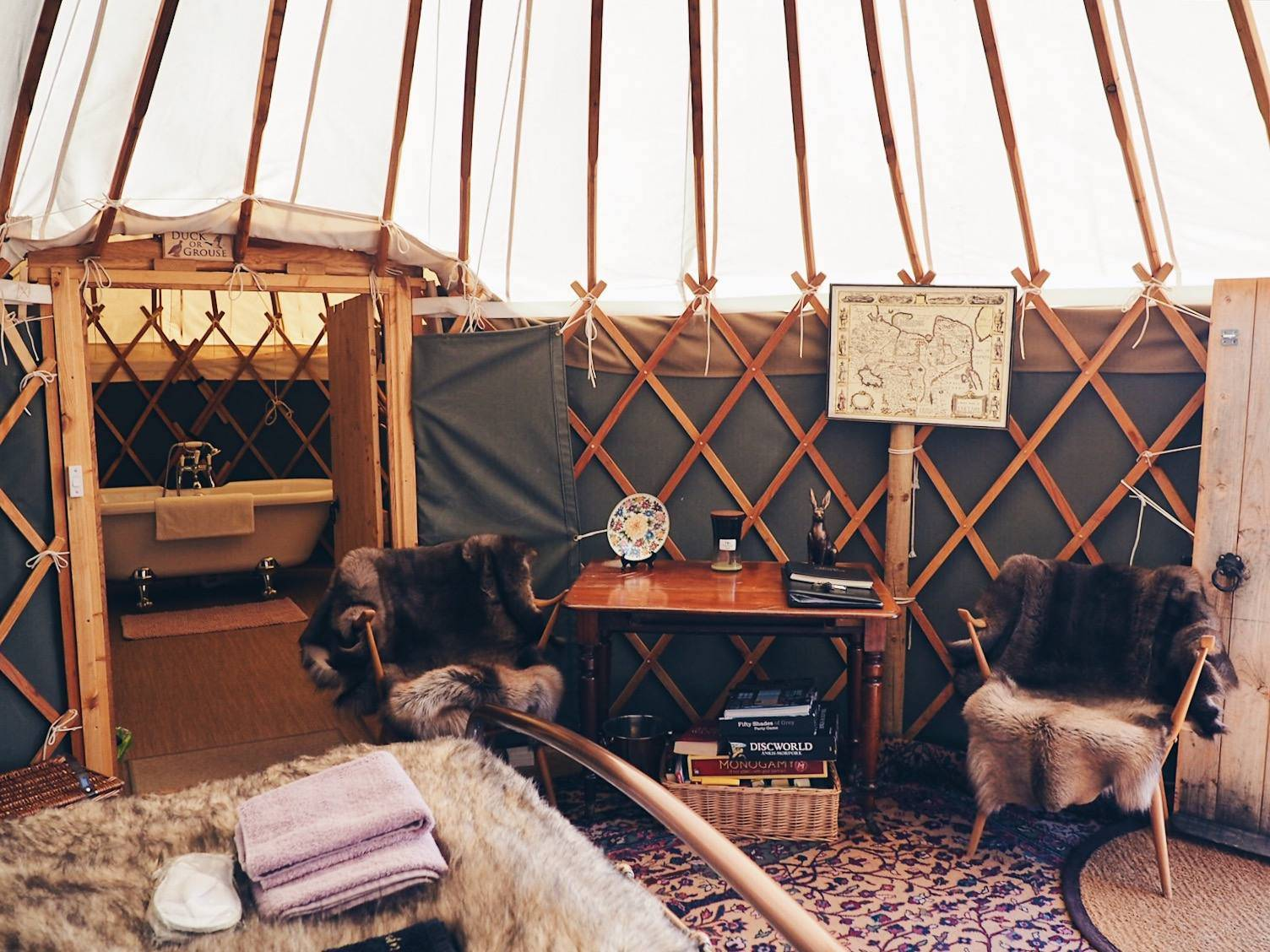 Luxury romantic glamping in Scotland
