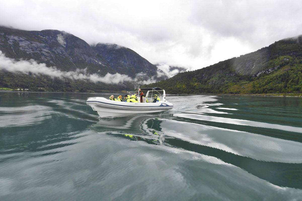 Best things to do in Olden, Norway: a rib ride
