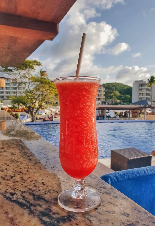 Cocktails at Royalton Saint Lucia hotel