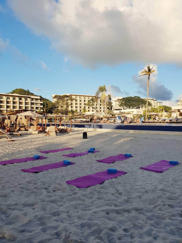 Yoga on the beach: activities at Royalton Saint Lucia