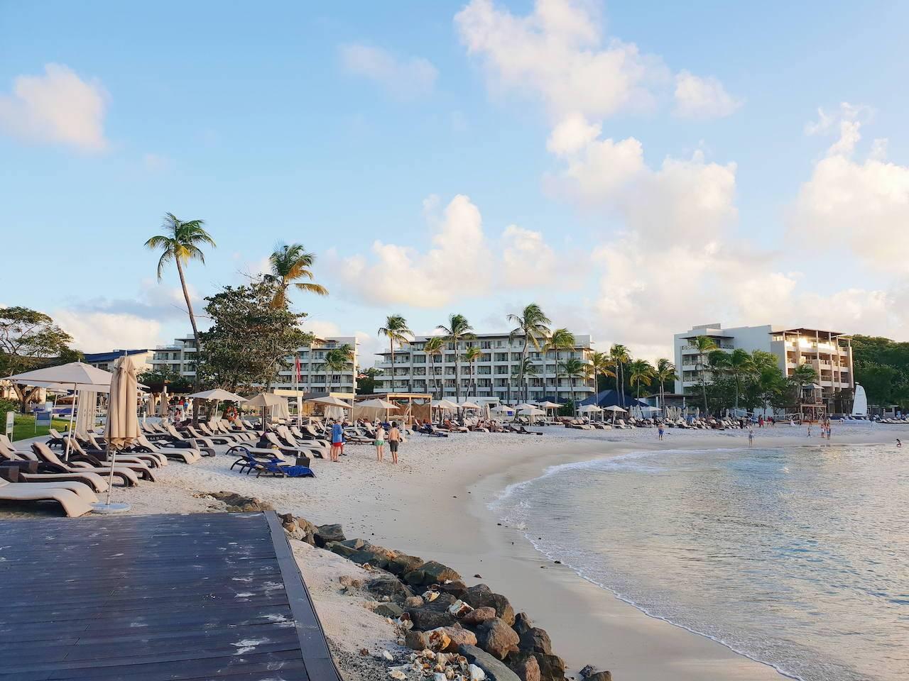 Beach at Royalton Hotel in Saint Lucia