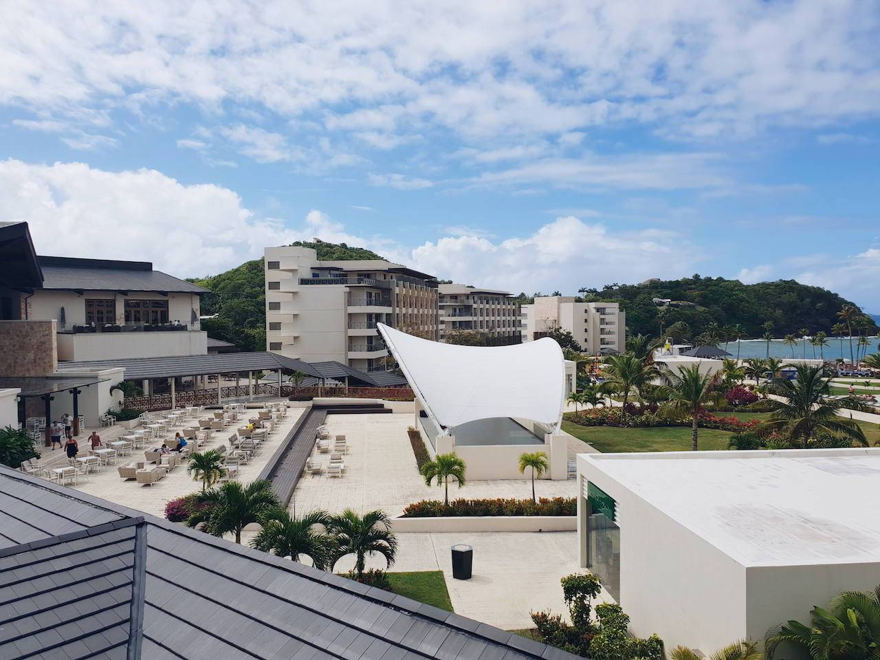 Balcony view of Royalton Saint Lucia resort