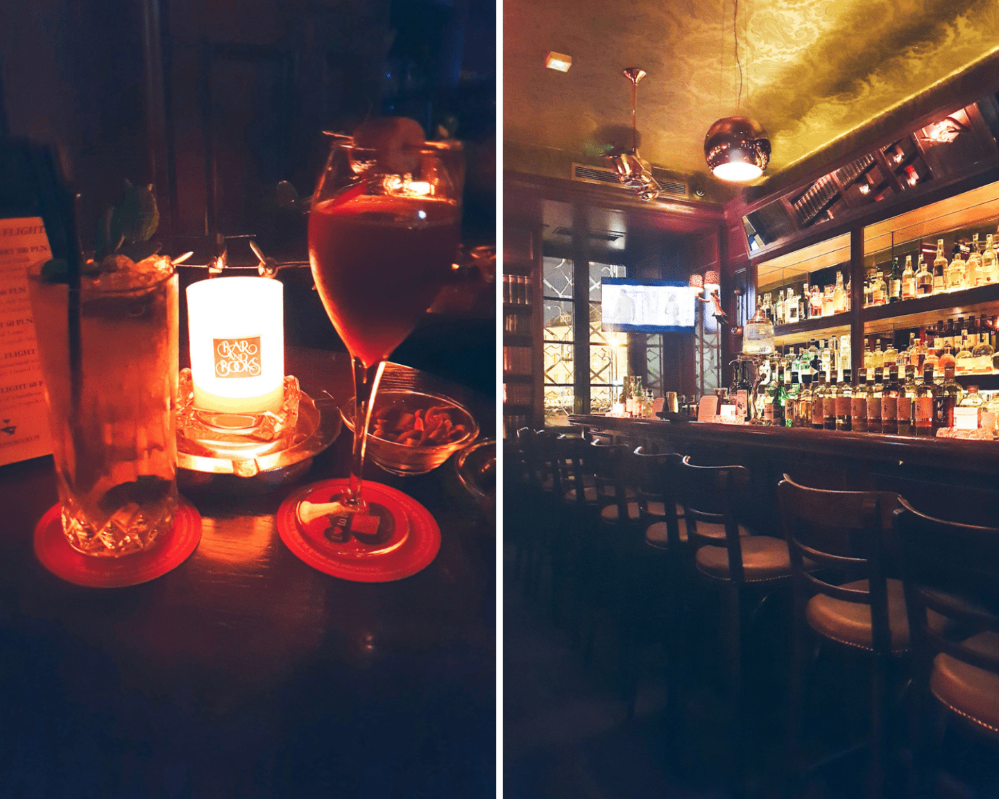 Bar & Books, one of the best cocktail bars in Warsaw